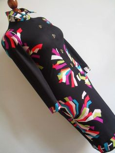 Vintage 60s psychedelic midi shirtdress I sold on Ebay a few years ago.
