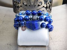 Take a look at our new Lapis Lazuli bracelet handmade by Ashmar, Rainfall.