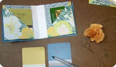 Pocket flag book tutorial by Sarah Nielsen. This is a variation on the accordion book & another way of adding pockets.