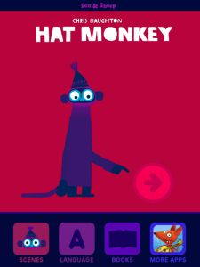 Hat Monkey (Fox & Sheep) app review by Katie Bircher at The Horn Book, April 9th, 2015