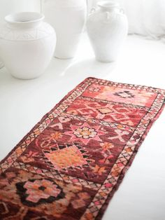 Ruby Vintage Moroccan Runner – Blush & Ochre Long Hallway, Moroccan, Im Not Perfect, Hand Weaving, Burgundy, Blush, Jewels, Wool, Orange