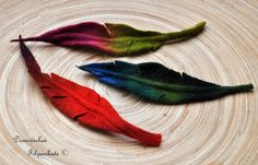 felted feather brooch by feltforcat on Etsy, $19.00