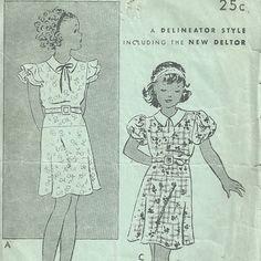Butterick 5617 Sewing Pattern  vintage 1930s by RebekaVintage