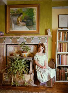 Julian Bell's Daughter in Clive Bell's study at Charleston. | Flickr - Photo Sharing!