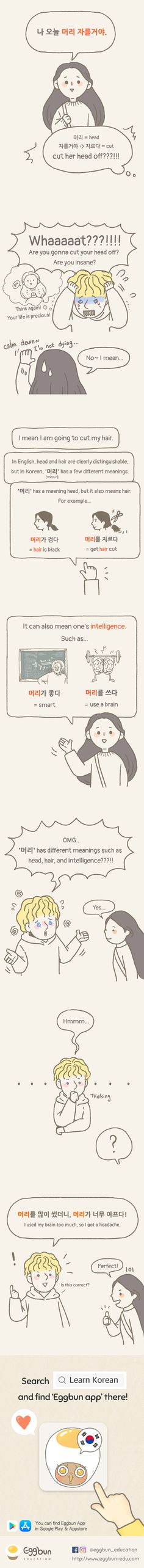 The language that solely learned with books often makes a problem when you use it in a real-life situation. Have you ever made a mistake when using Korean? We will make a cartoon with your funny episode. Korean Slang, Korean Phrases, Korean Words, Korean English, English English, English Grammar, Learn English, Learning Languages Tips, Foreign Languages