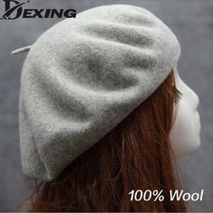 a892d59d547f2 100% real wool Beret Vintage Warm spring Winter Women Beret French Artist  Beanie Hat beret femme Girl Gift-in Berets from Women s Clothing    Accessories on ...