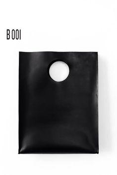 B001  leather clutch