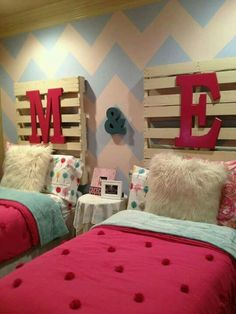 great big girl room idea for twins!