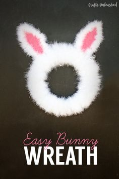 DIY Project Easter Bunny Spring Wreath Tutorial with easy step by step directions! Fun Easter DIY Home Decor! - Tried & True Diy Spring Wreath, Diy Wreath, Spring Crafts, Easter Crafts To Make, Bunny Crafts, Diy Crafts, Tree Crafts, Fabric Crafts, Diy Osterschmuck