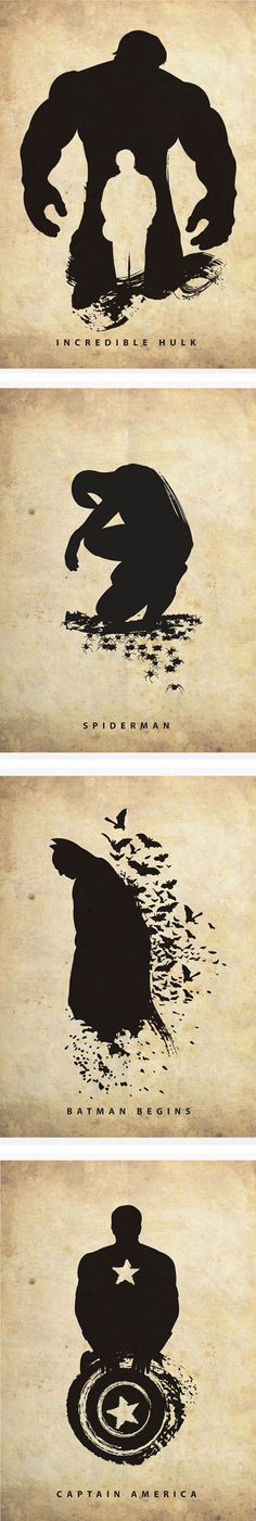 We have rounded up some minimalistic superhero posters that make great use of their silhouettes.