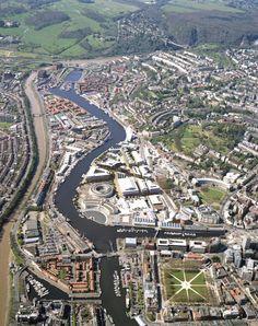 Bristol Harbourside. Landscape architecture by Bath-based landscape architects Grant Associates.