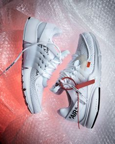 A Closer Look at the Nike x Off-White Air Presto White - The Drop Date Nike Presto, Buy Shoes, Nike Shoes, Sneakers Nike, Men's Shoes, Air Presto White, Nike London, Cool Nikes, Hype Clothing
