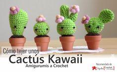 Tutorial #59: Aprende en 10 Minutos cómo tejer unos Cactús Kawaii - Amigurumis a Crochet