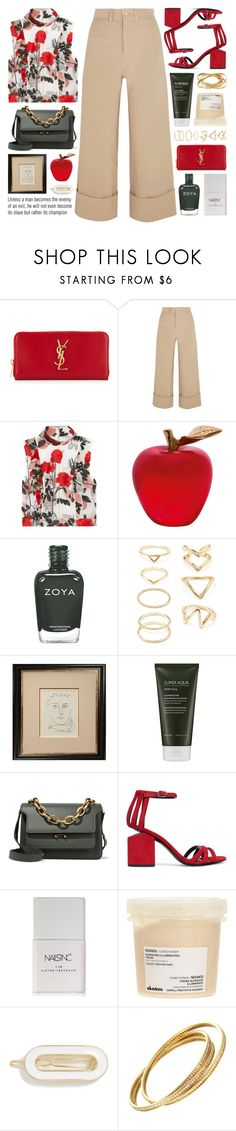 """""""cropped wide-leg pants"""" by jesuisunlapin ❤ liked on Polyvore featuring Yves Saint Laurent, Sea, New York, Ganni, Daum, Zoya, Forever 21, Munn Works, Missha, Marni and Alexander Wang"""