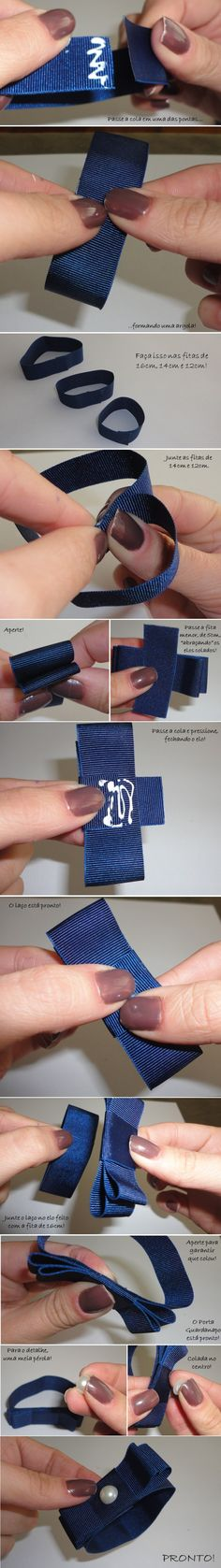 PASSO-A-PASSO-PORTA-GUARDANAPO Mais Napkin Folding, Bridezilla, Blue Christmas, Diy Crafts To Sell, Diy Beauty, Napkin Rings, Tablescapes, Napkins, Bows