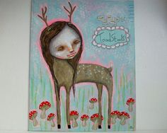 Gentle Deer (like to stand among toadstools) by Micki Wilde