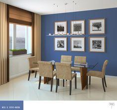 Niebieski kolor ścian wsypialni