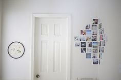 instagram wall / mobile wall hanger? colorful prints on plain white wall