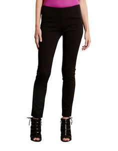 Lauren Ralph Lauren Petite Jersey Skinny Pants Women's Black Petite Me