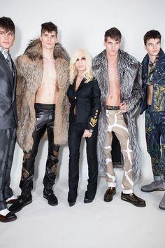 Versace Men's Backstage A/W '13