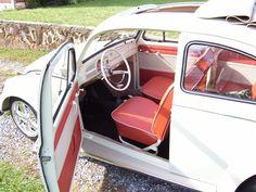 True red interior VW Bug