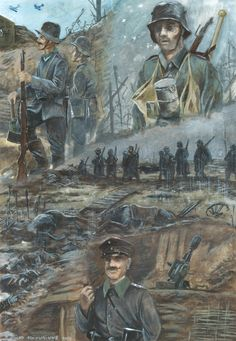 Western Front 1917 by tuomaskoivurinne on DeviantArt Military Art, Military History, Ww1 Battles, Ww1 Art, Ww1 Soldiers, Military Drawings, War Comics, Happy Tree Friends, War Photography
