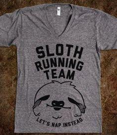 'sloth running team' tee. - $24.70 - S
