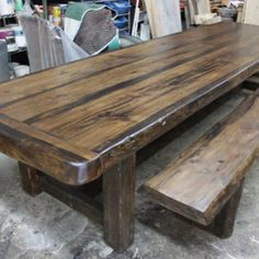 Old Wood Projects Rustic Kitchen Tables 56 Ideas Country Kitchen Tables, Farmhouse Table, Wood Tile Kitchen, White Wood Table, Old Wood Projects, Wood Interior Design, Wood Sofa, Dining Room Table, Country Living