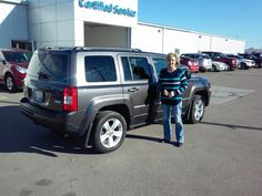 CHERYL's new 2015 JEEP PATRIOT! Congratulations and best wishes from Kunes Country Auto Group of Sterling and James Henderson.