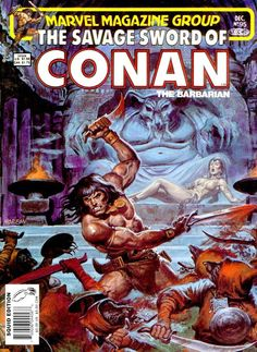 """The Savage Sword of Conan vol.1 # 95, """"Night of the Rat!"""" (December, 1983). Cover by Earl Norem."""
