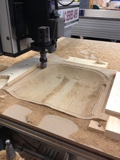 Techno CNC router carving out my seat. Designed in AutoCAD and rendered in Rhino.