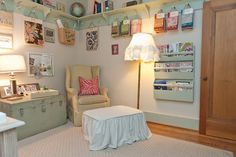"""""""sewing Room"""" Design Ideas, Pictures, Remodel, and Decor - could repaint my old trunks"""