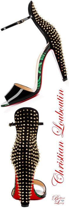 Brilliant Luxury by Emmy DE * Christian Louboutin Tropanita Vernis Sandals
