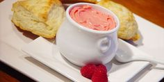 Raspberry Butter: This yummy fruit infused butter is perfect with a scone for tea or brunch!