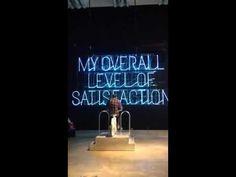 Stefan Sagmeister: The Happy Show Bike--powered neon type wall - YouTube