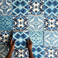 Who's down for blue mosaic cement tile floors?  Share your thoughts and tag a friend.  #madetoorder #cementtile #maleneb #malenebdesign #malenebtile #interiors #tiledesign #carpetdesigner #nyc #nycdesigner #nycdesign #moderntile #brooklyn #interiordesign #interiordesigner by malenebcarpets
