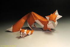 Origami Art – Genius Simplicity or Advanced Sophistication | Foxes / Cáo by Hoàng Tiến Quyết
