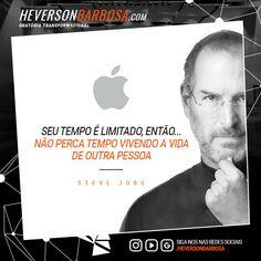 💊 Seu tempo é limitado, não perca tempo vivendo a vida de outra pessoa #protagonistas #oratória #HeversonBarbosa #Coaching http://heversonbarbosa.com