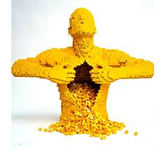 Love this. Reminds me of the Lego booth at ComicCon and all the yello Legos
