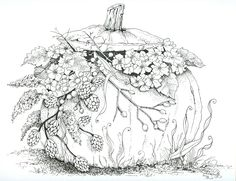 Fall crafts for kids. Want to start Sketching, Drawing, and Creating? **Click the image and get yourself a Pencil-Drawing Set. Pumpkin Coloring Pages, Fall Coloring Pages, Halloween Coloring Pages, Free Coloring, Coloring Books, Halloween Coloring Pictures, Flower Coloring Pages, Coloring Pages For Grown Ups, Printable Adult Coloring Pages