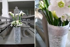 Lovely white calla lilies for the ceremony