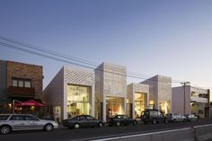 2015 New Zealand Architecture Awards Announced,Mackelvie Street Shopping Precinct / RTA Studio Office Building Architecture, World Architecture Festival, Retail Architecture, Building Facade, Commercial Architecture, Architecture Details, Building Design, Arch Street, Street Mall