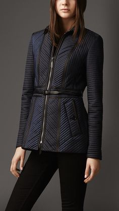 Ribbed Quilt Jacket | Burberry
