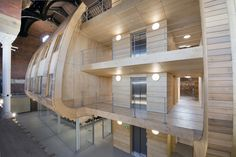 Image 5 of 28 from gallery of Ashton Old Baths / Modern City Architecture & Urbanism. Photograph by James Maddox Architecture Office, Architecture Details, Office Pods, St Peter's Church, Cedar Boards, Roof Structure, Listed Building, Unique Buildings, English Heritage