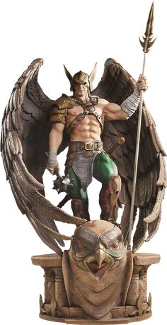 DC Comics Hawkman Closed Wings Statue by Iron Studios Statues, Comic Books Art, Comic Art, Comic Character, Character Design, Robert E Howard, 3d Art, Arte Dc Comics, Hawkgirl