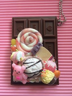 sweets deco chocolate mirror on Etsy, ¥1,521.74