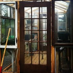 Our greenhouse - built from old windows and doors from my grandparents first home ❤