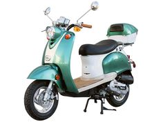 50cc 4 Stroke Euro Moped Gas Motor Scooters, $947, black seat only