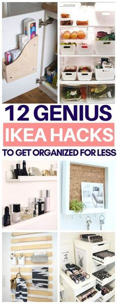 So glad I read this list of organization Ikea hacks before going there today! Ch… I'm glad I read this list of Organization Ikea hacks before I go there today! Cheap and easy tips on using Ikea items to organize Ribba frames, storage boxes and more! Billy Regal Ikea, Billy Ikea, Ikea Regal, Ikea Kallax Regal, Ikea Kallax Hack, Organisation Ikea, Home Organization, Organizing Tips, Organising Hacks