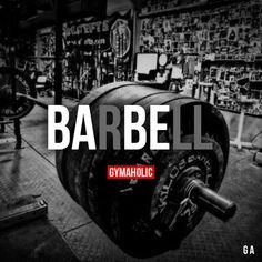 """gymaaholic: """" BARBELL I'm sure I'm not alone to be in relationship with iron. http://www.gymaholic.co """""""